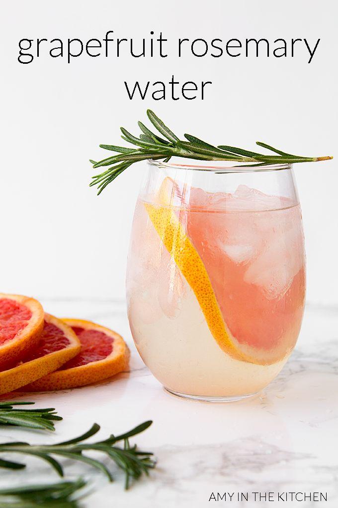 Grapefruit-Rosemary-Water
