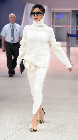 Victoria Beckham Puff Longsleeved Chunky Sweater AS seen On Victoria Beckham