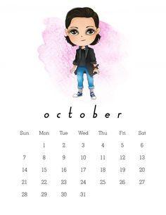 Resultado de imagen para stranger things calendario octubre