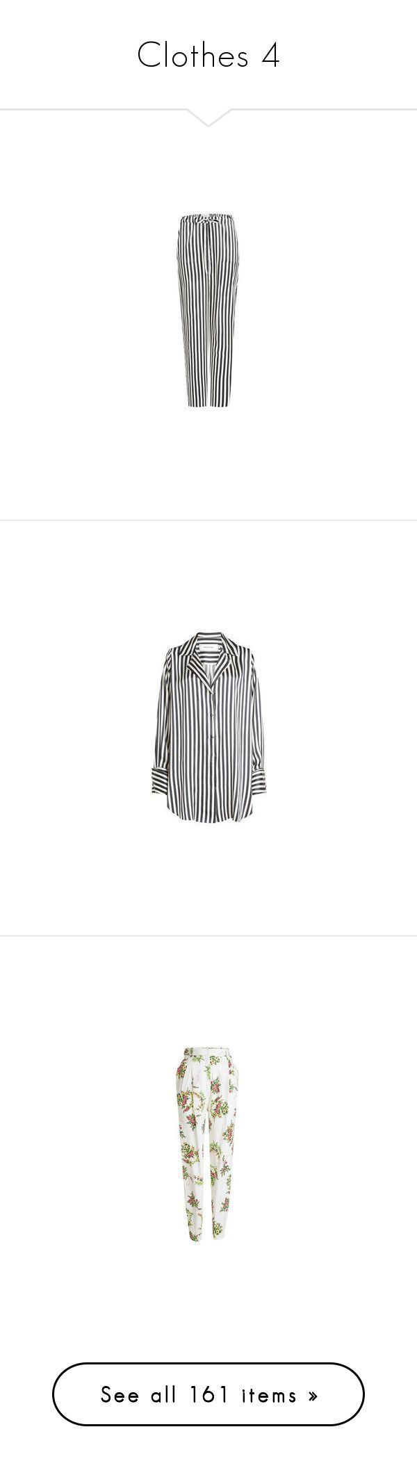 """""""Clothes 4"""" by laannu ❤ liked on Polyvore featuring tops, blouses, slouchy shirts, black and white stripe blouse, black white striped blouse, shirt blouse, stripe shirt, emilia wickstead, floral print crop top and white floral top"""