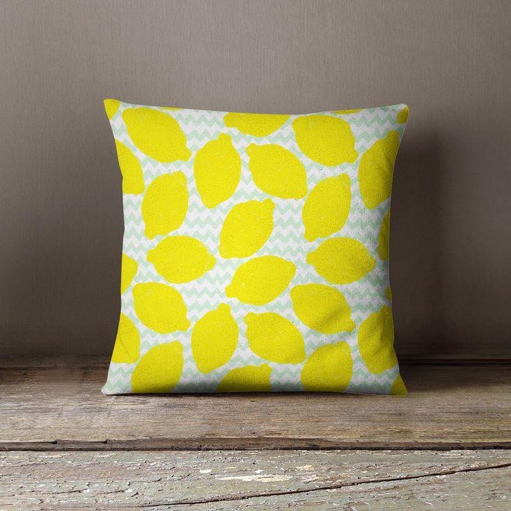 Lemon Pillow | Lemon Decor | Fruit Pillow | Yellow Throw Pillow | Yellow Pillow | Yellow Cushion | Yellow Pillow Sham | Lemon Throw Pillow by wfrancisdesign on Etsy https://www.etsy.com/listing/269529157/lemon-pillow-lemon-decor-fruit-pillow