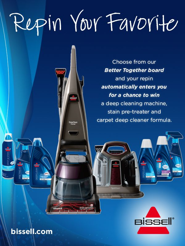 """Repin your favorite """"Better Together"""" pair from this board for your chance to win a deep cleaning prize package! See the board description for details."""