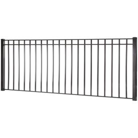 Monroe Black Steel Decorative Fence Panel Common 4 Ft X