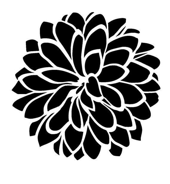 12/12 Dhalia flower stencil. por LoveStencil en Etsy