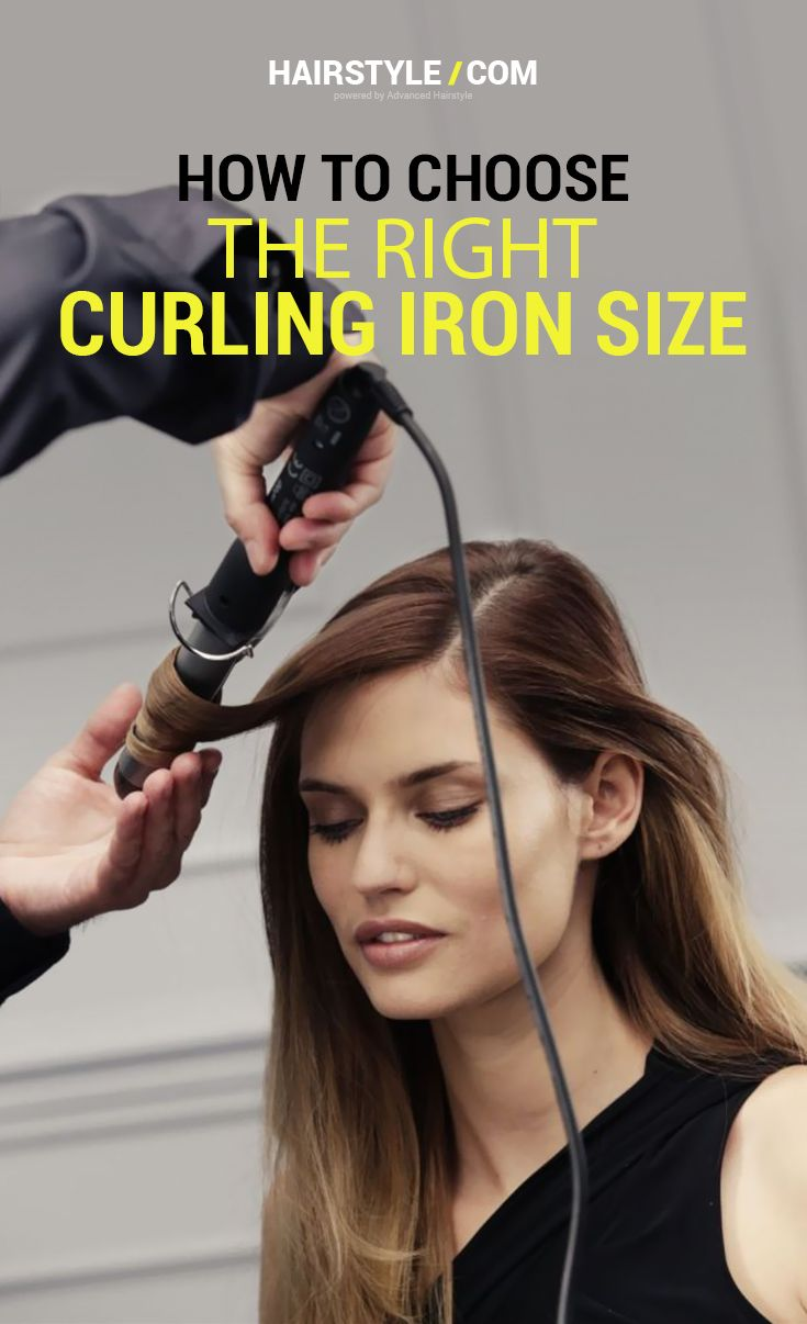 Curling iron size is crucial for determining loose waves or tight curls.