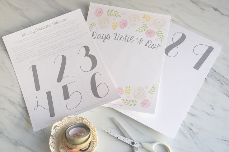 K+B Photography | Our Blog | Freebies: A Printable Wedding Countdown Calendar | Chicago Wedding Photographer