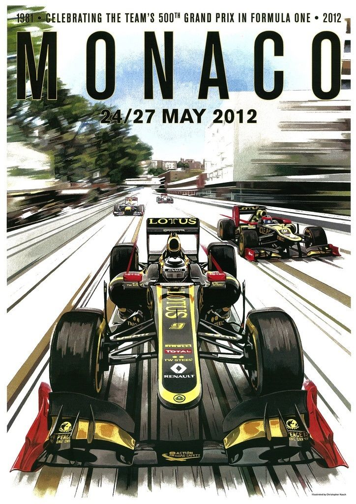 Best MONACO GRAND PRIX Images On Pinterest Car Posters - Minimal formula 1 posters jason walley