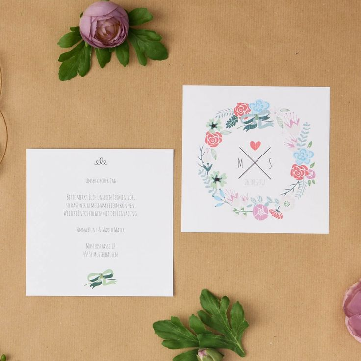 Sweet Summer | Save the Date - Postkarte quadratisch