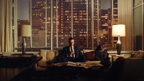 Mad Men Sipping Whiskey