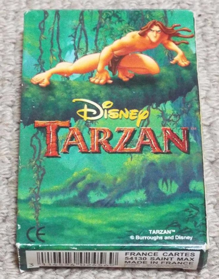 TARZAN HAPPY FAMILIES SEALED PLAYING CARD GAME - DISNEY