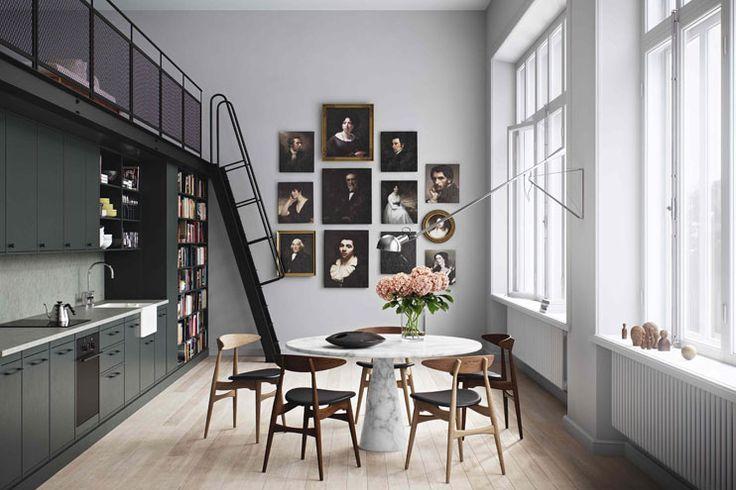 Imposante Porträts, Bilderwand, Werkstätte für vornehme Bildnisse