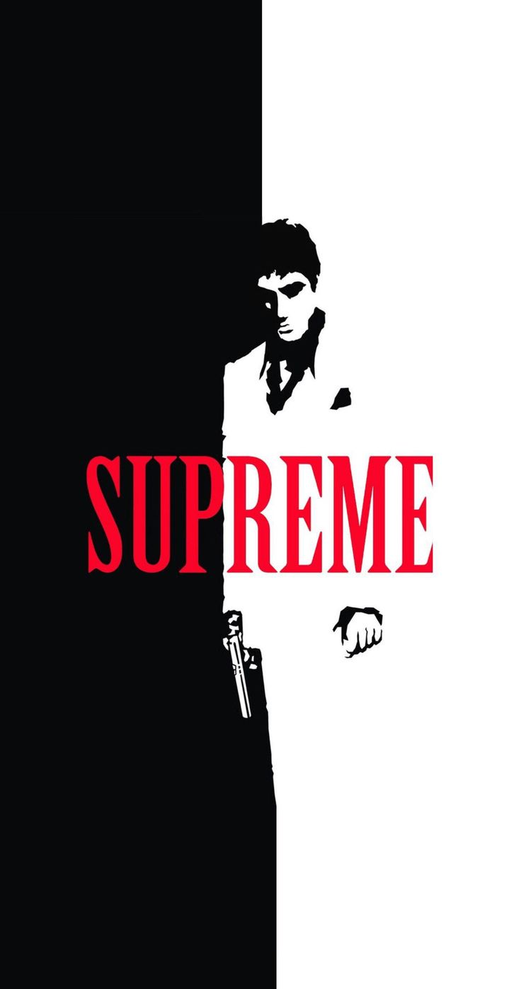 Scarface x Supreme Split IPhone Wallpaper Cool things