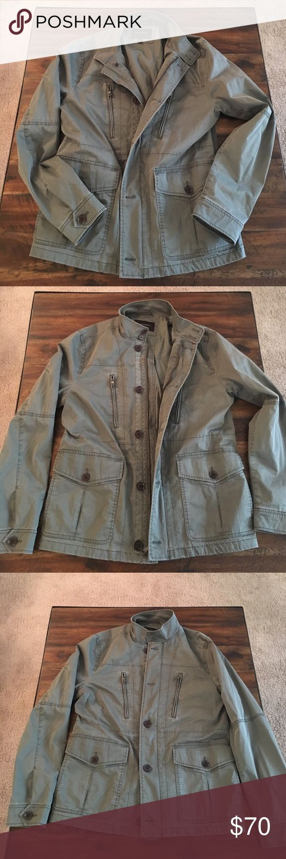 Banana Republic Utility Jacket Banana Republic Utility Jacket. NWOT. Size medium, though it's an oversized fit. I'm a large and could wear it but not zip a the way. Soft olive color, great for the military trend. Banana Republic Jackets & Coats Utility Jackets