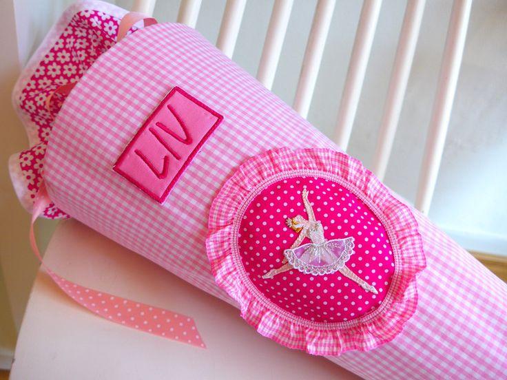 Schultüten - BALLERINA Stoffschultüte später Kissen - ein Designerstück von maximino bei DaWanda