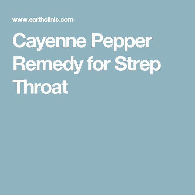Cayenne Pepper Remedy for Strep Throat