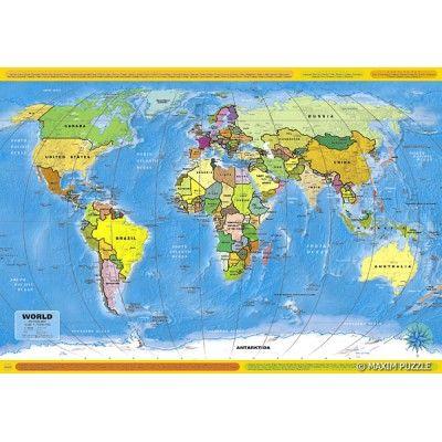 Puzzle z obrazkiem MAPY ŚWIATA. Opakowanie zawiera 260 elementów. Doskonała rozrywka dla całej rodziny!