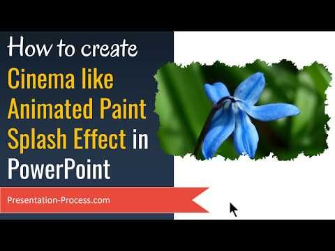(7) PowerPoint Animation with Cinema like Paint Splash Effect - YouTube