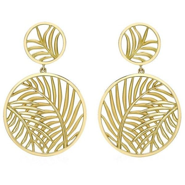 Theo Fennell Palm Diamond Double Disc Earrings ($3,275) ❤ liked on Polyvore featuring jewelry, earrings, palm tree earrings, diamond jewellery, 18k earrings, 18 karat gold jewelry and disc jewelry