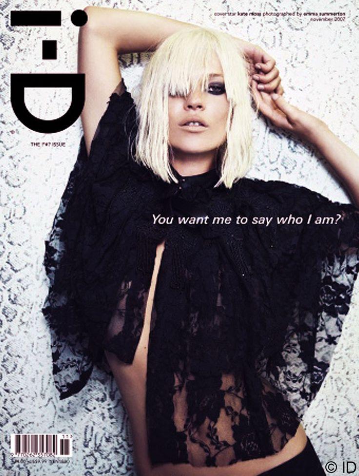 #KateMoss on the i-D magazine