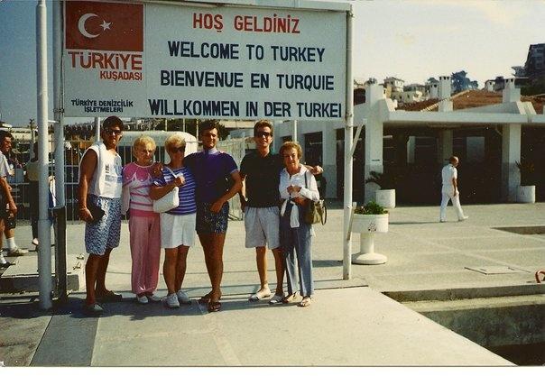 Arriving in Istanbul, Turkey.