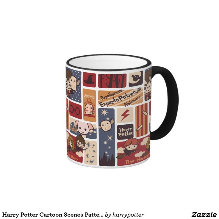 Harry Potter Cartoon Scenes Pattern. Regalos, Gifts. #taza #mug