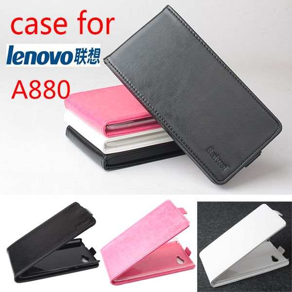 Luxury Retro Leather Case for Lenovo A880 Flip Vintage Phone Cases for Lenovo A880 Cover