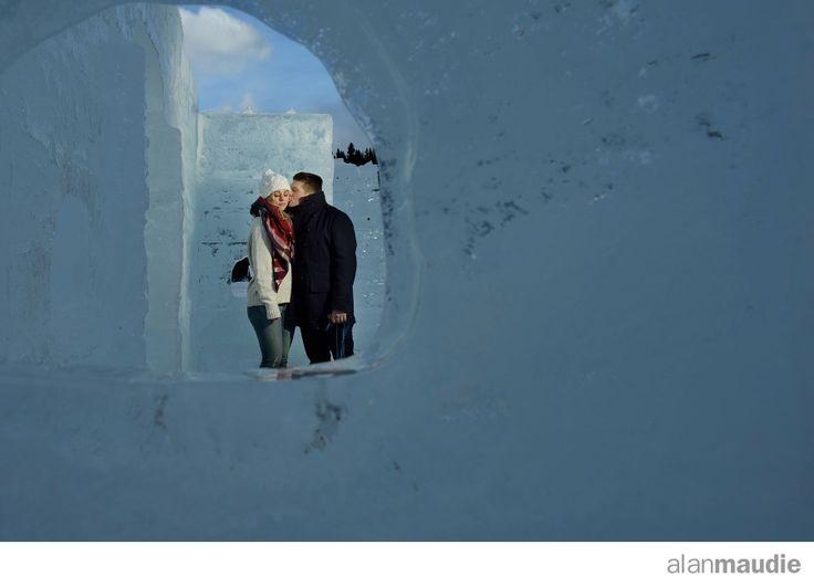Engagement session on ice, Canadian Rockies Wedding Photographers, Lake Louise Wedding Photographer
