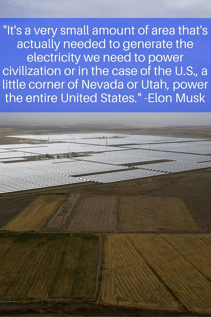 Best Solar Power Fun Facts Images On Pinterest Solar Power - Elon musk map of us covered with solar