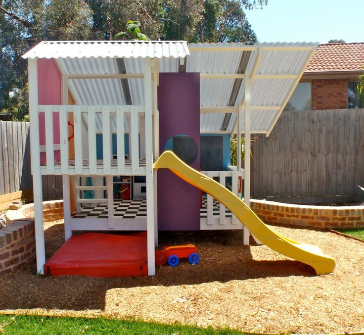 #mycubby kids cubby house with slide #outdoors #play #kids