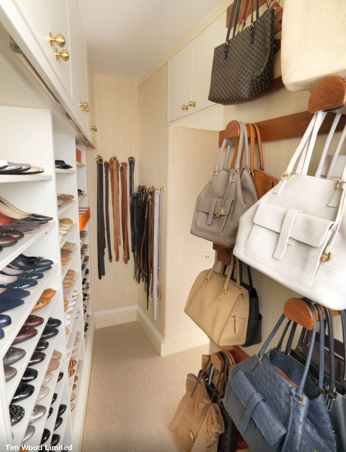 Install shelving around and above the entire master closet door for additional space.