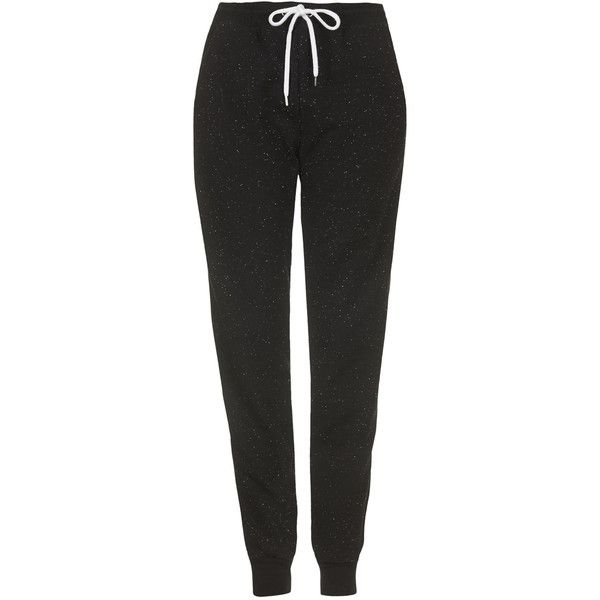 TOPSHOP Neppy Joggers ($39) ❤ liked on Polyvore featuring activewear, activewear pants, pants, bottoms, sweatpants, sport, joggers, black, topshop and cuff sweatpants