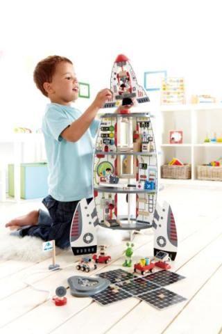 Puulelut, puiset lelut, avaruuslelut, raketti, puujunat, Hape puulelut | Leikisti-verkkokauppa