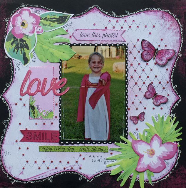 A layout by Kelly-ann Oosterbeek, made using the Say Aloah Collection from Kaisercraft. www.amothersart.com.au