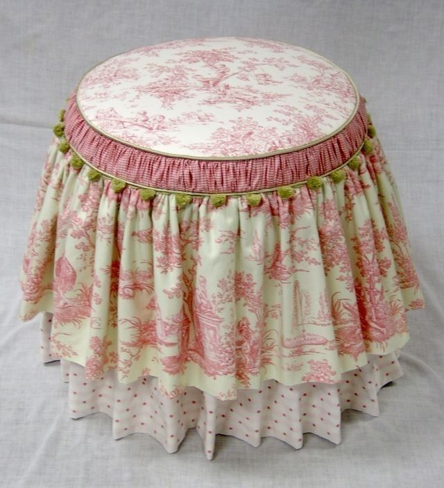 Stool/ottoman slipcover (easy to modify for table)