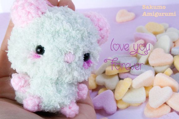 Orsetto  Fluffy Bear  Kawaii Plush  Pupazzi  di SakumoAmigurumi
