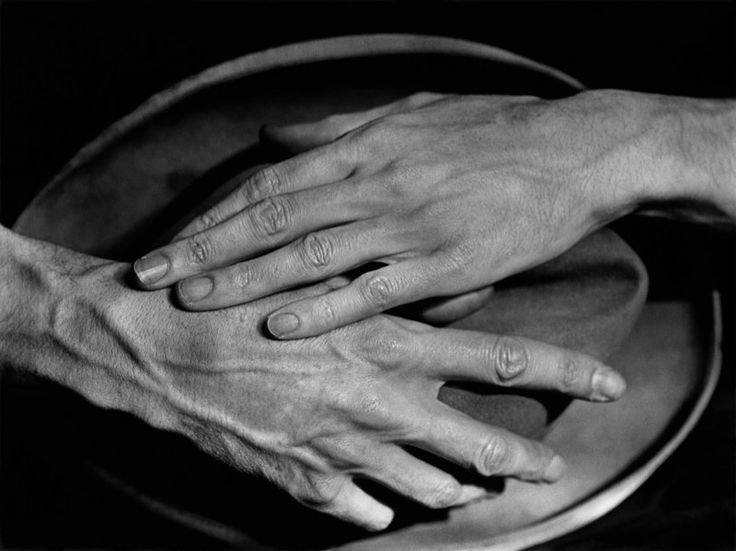 Jean Cocteau's Hands, Paris, 1927. Photographed by Berenice Abbott.