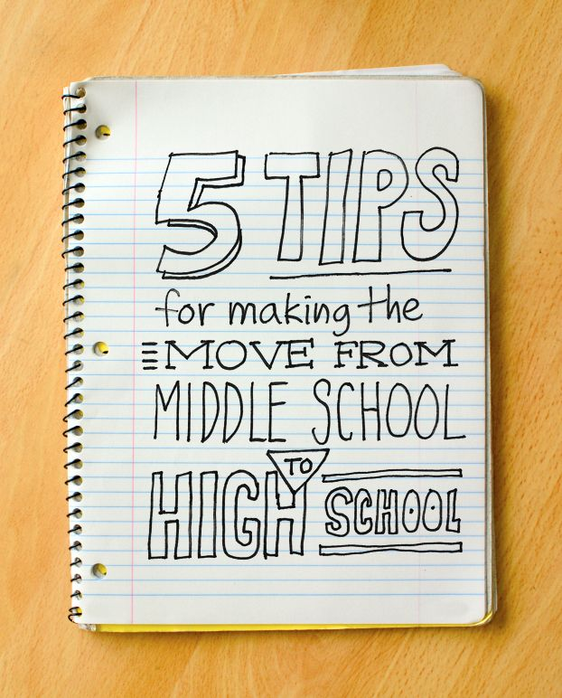 Tips for making the move from middle school to high school. #parents #parenting