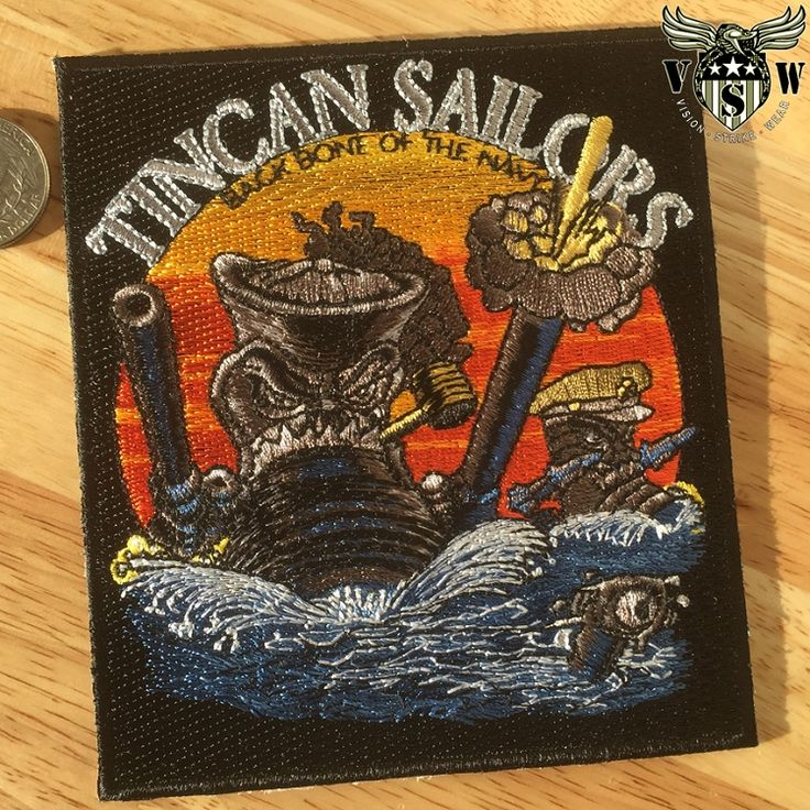 US Navy Tin Can Sailors Military Patch $8.95
