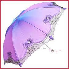 Purple fashion parasols