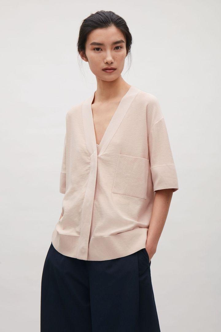 COS | Button-up v-neck top