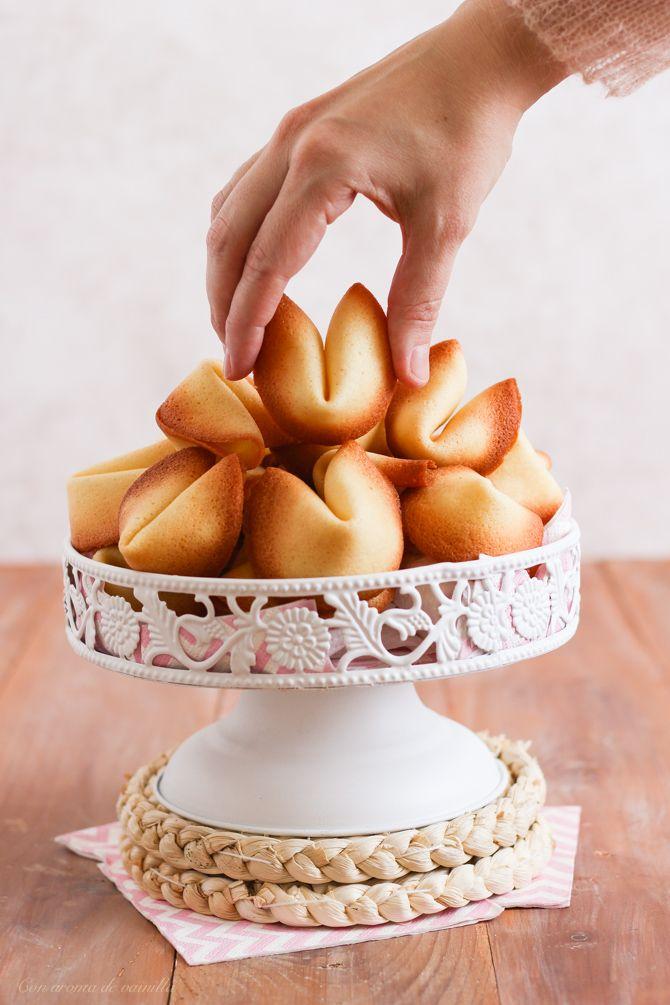 Galletas de la suerte románticas | Con aroma de vainilla
