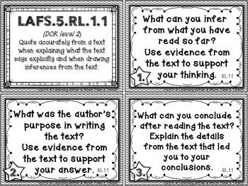 LANGUAGE ARTS FLORIDA STANDARDS (LAFS) 5TH GRADE TASK CARDS - TeachersPayTeachers.com