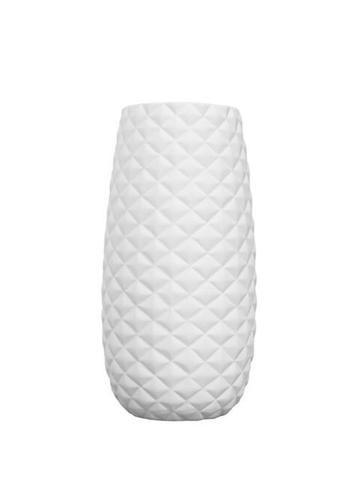 Diamond Vase Small Matte White