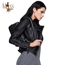 Genuine Leather 2016 autumn new high Fashion street brand style Women real…