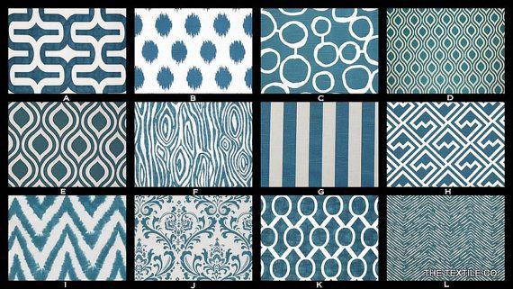 Custom Twin/Full Size Reversible Contemporary Duvet Cover in Aquarius Blue