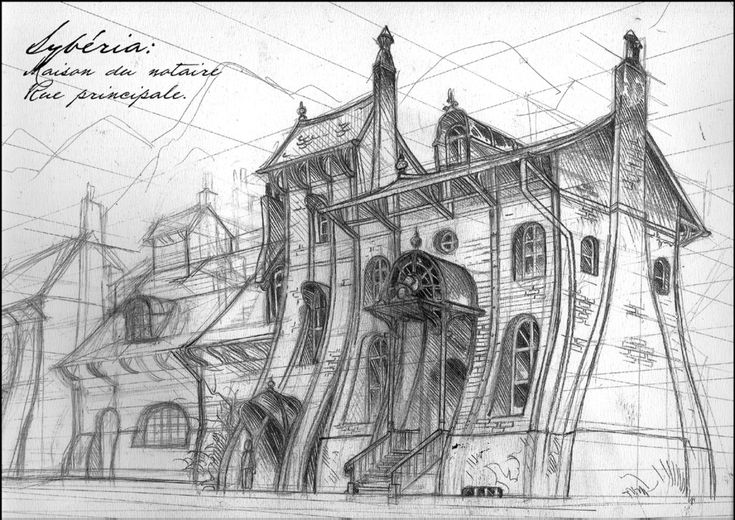 sketches : Notary's house