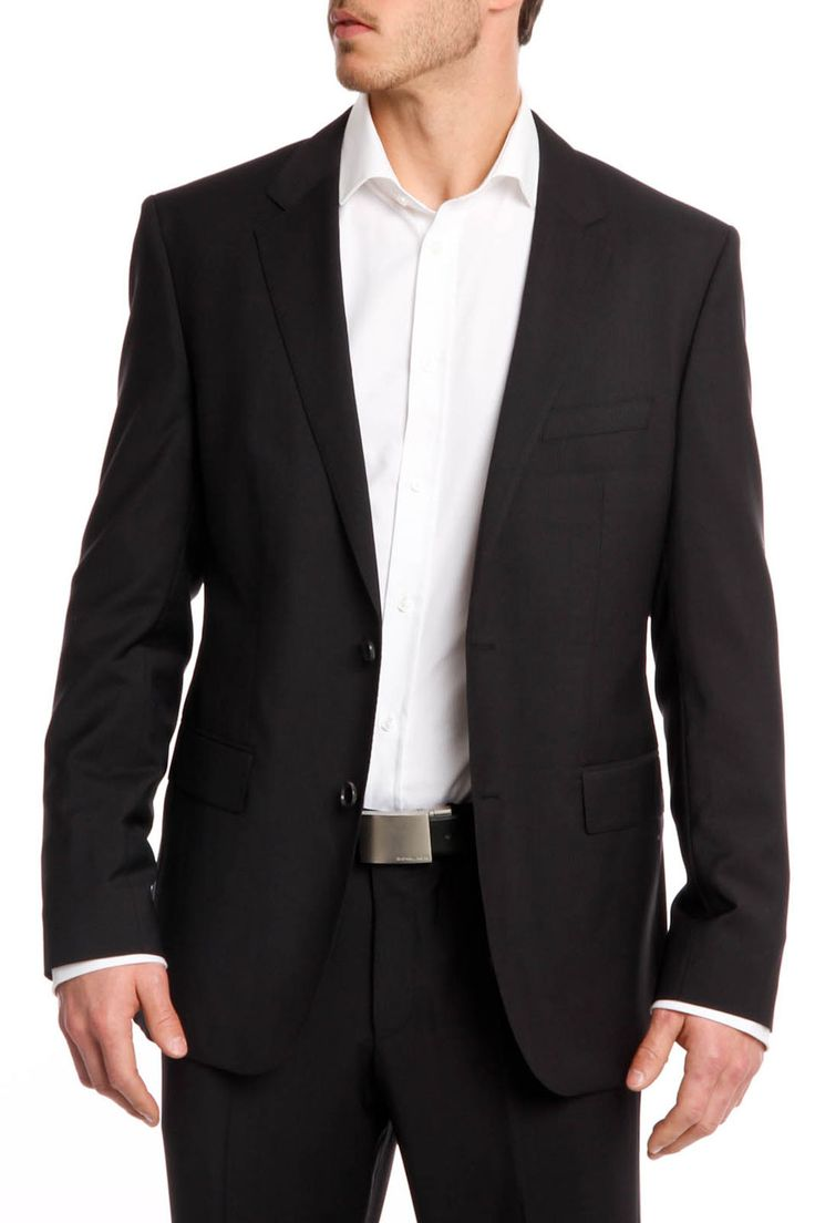 Hugo Boss The James3/Sharp5 Striped Suit In Black ...