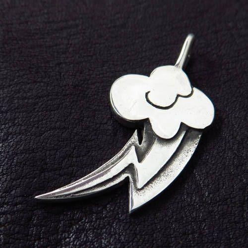 Silver Rainbow Dash pendant
