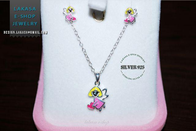 #set #earrings #necklace #jewelry #joyas #kids #collection #children #school #moda #silver #jewellery #bestideasgifts #birthdaygifts #birthday #παιδι #κοριτσι #παιδικο #κοσμημα #setkids