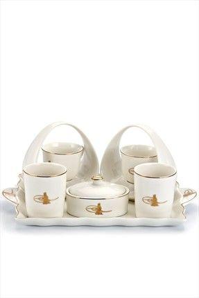 Neşeli Mutfaklar - 9 Parça Tepsili Ottoman Porselen Kahve Takımı M09-1035 %59 indirimle 69,99TL ile Trendyol da